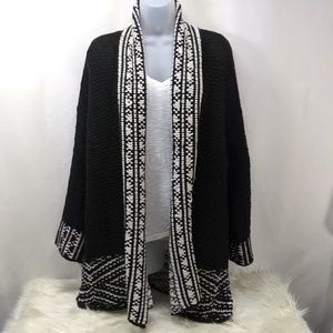 Long Cardigan Open Front Sweater